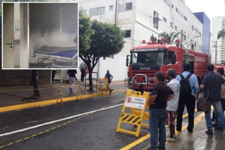 Fogo atingiu o apartamento 318 (no detalhe) após uma explosão; chamas foram controladas pela Corpo de Bombeiros