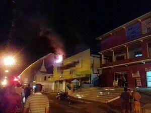 Incêndio atinge loja em Manacapuru,no AM (Foto: Arquivo Pessoal)