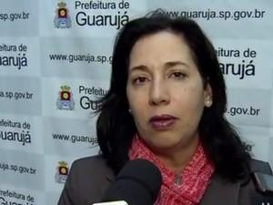 Prefeita de Guarujá pediu cuidado a moradoresapós vazamento (Foto: Reprodução/TV Tribuna)