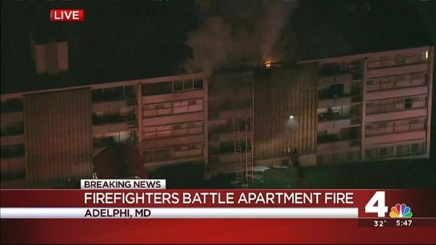 Prince George's County Fire spokesman Mark Brady describes the scene at a two-alarm fire at a six-story apartment building in Adelphi, Maryland. (Published Wednesday, Jan. 13, 2016) - Fonte: nbcwashington.com