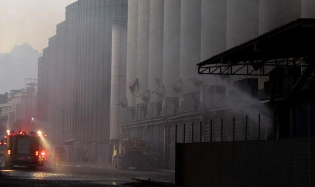 De manhã, alguns moradores do Macuco ficaram assustados por conta da fumaça