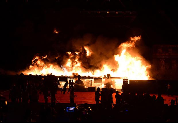 Segundo organizadores do evento e o Ministério do Interior, não houve mortes (Foto Folha de São Paulo)