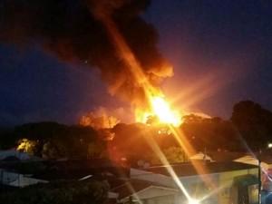 Tanque explodiu em Paraguaçu Paulista (Foto: Arquivo Pessoal)